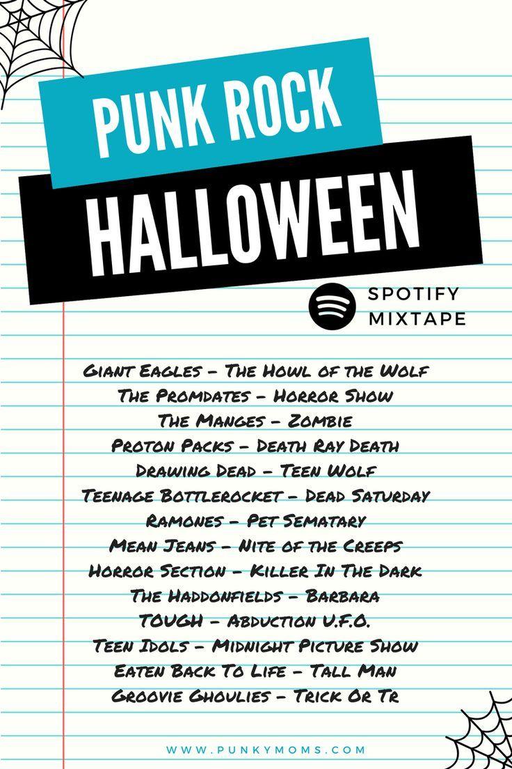 Halloween Horro Nights Music 2020 Playlist Punk Rock Halloween Spotify Music Playlist   Horror Show in 2020
