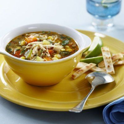 12 of our best chicken soup recipes - Cilantro-lime chicken #soup