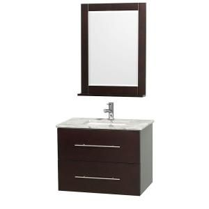 Wyndham Collection Centra 30 in. Vanity in Espresso with Marble Vanity Top in Carrara White and Undermount Sink-WCVW00930SESCMUNDM24 at The Home Depot