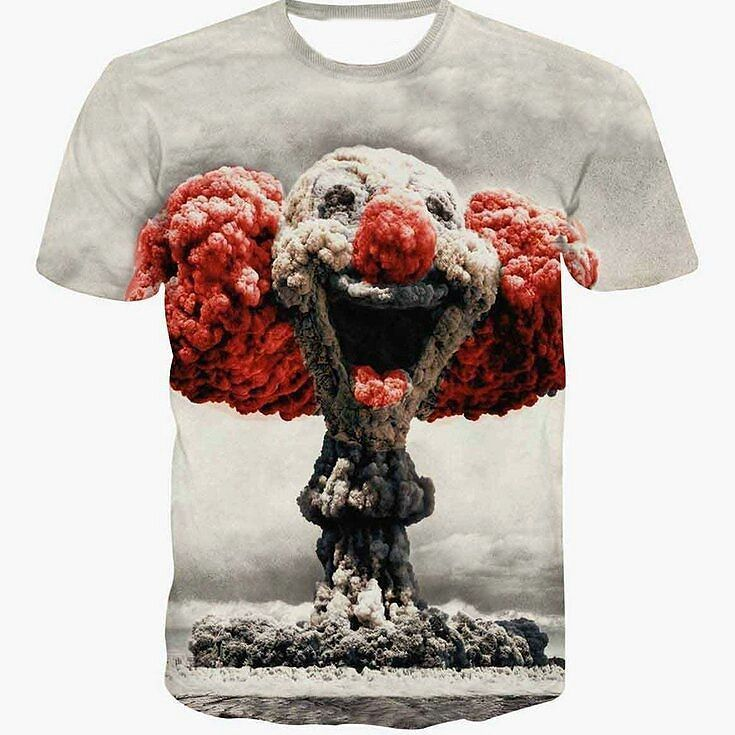 New Fashion Nuclear Clown Print T-shirt Unisex Women/Men Casual 3D Tshirt Harajuku Tee Shirt -  TO BUY: Follow @3DPrintShirts @3DPrintShirts @3DPrintShirts then tap the link in the BIO.  - #3dprintshirts #3d #3dprint #3dprinting #tshirt #shirt #mens #womens #tees #menstshirt #menshirt #womenstshirt #womenshirt #menstees #womenstees #fashion #mensfashion #womensfashion #boys #girls #boystshirt #girlstshirt #cartoons #comics #art #painting #drawing #pictures #culverbox #culverboxit by…