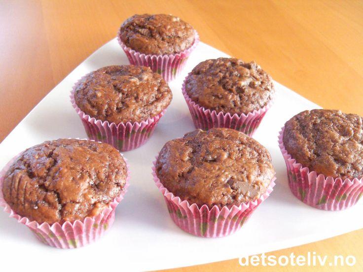 Lyse sjokolademuffins | Det søte liv