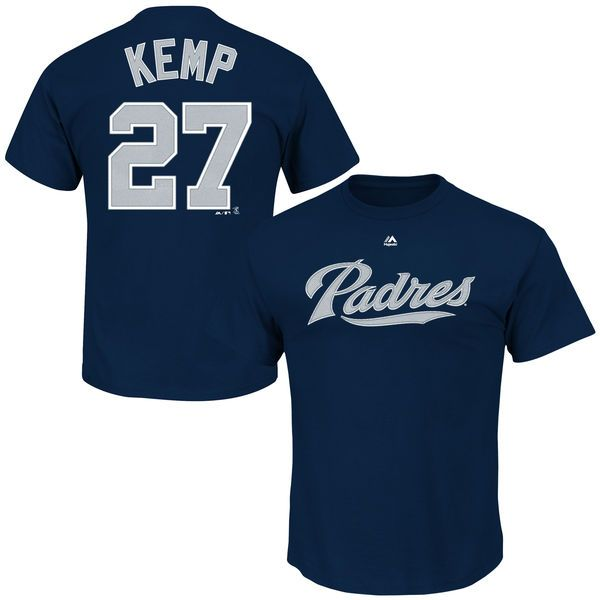 Matt Kemp San Diego Padres Majestic Name and Number T-Shirt - Navy - $16.99