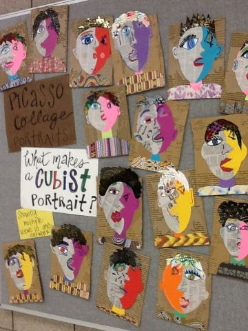 Art at Becker Middle School: Picasso portraits revisited #art