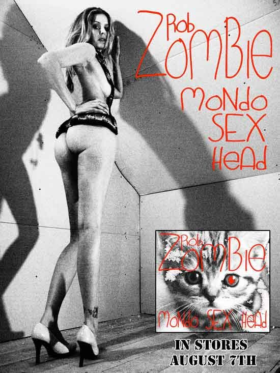 Sheri Moon Zombie on cover of Rob Zombie Mondo Sex Head release