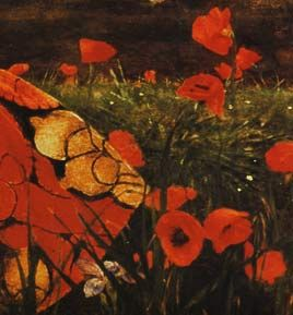 Opium poppies are associated with Ceres as Persephone was said to be picking them in a field when she was 'raped'.