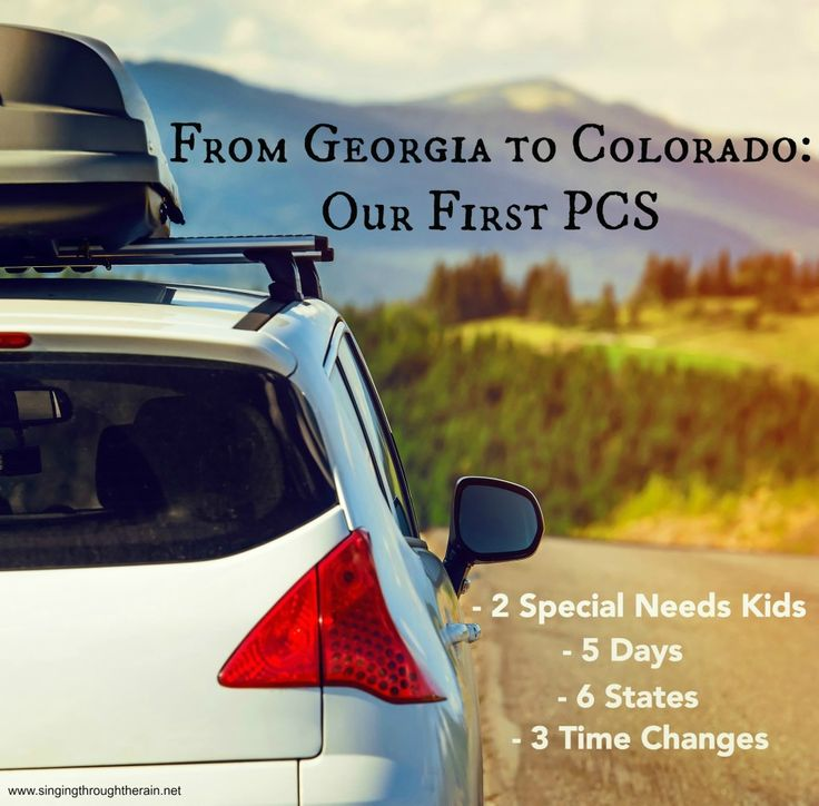 From Georgia to Colorado: Our First PCS - 2 special needs kids, 5 days, 6 states, and 3 time changes. Read more to find out where we stopped and how it went!