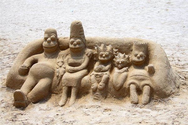 .: Sand Art, Sandsculptures, Sand Castles, The Simpsons, Sand Sculptures, Walleye, Simpsons Sand