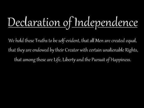 Memorize the Declaration of Independence: Preamble (short version) - YouTube