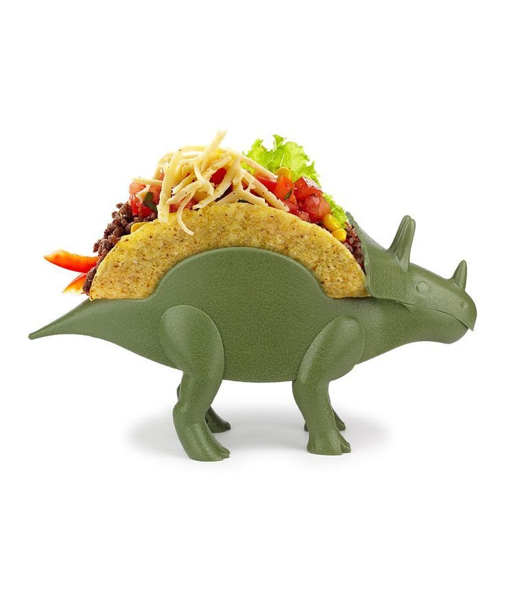Bring a bit of prehistoric pep to mealtime with this triceratops-shaped taco holdertriceratops10.25'' W x 5'' H x 3'' DABSDishwasher safeImported