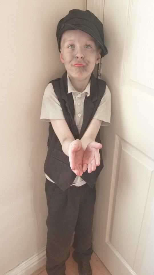 Oliver twist world book day winning costume idea - so simple too!