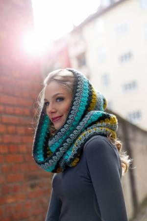 Infinity scarf tutorial | Schals häkeln: Warme Kapuzenschals für den Winter (German / Deutsch)