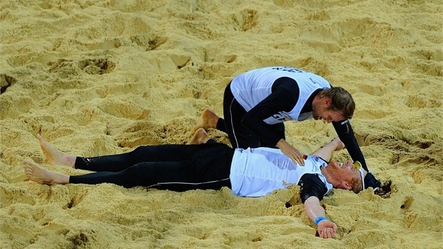 Julius Brink and Jonas Reckermann of Germany - Beach Volleyball Gold Medal London 2012