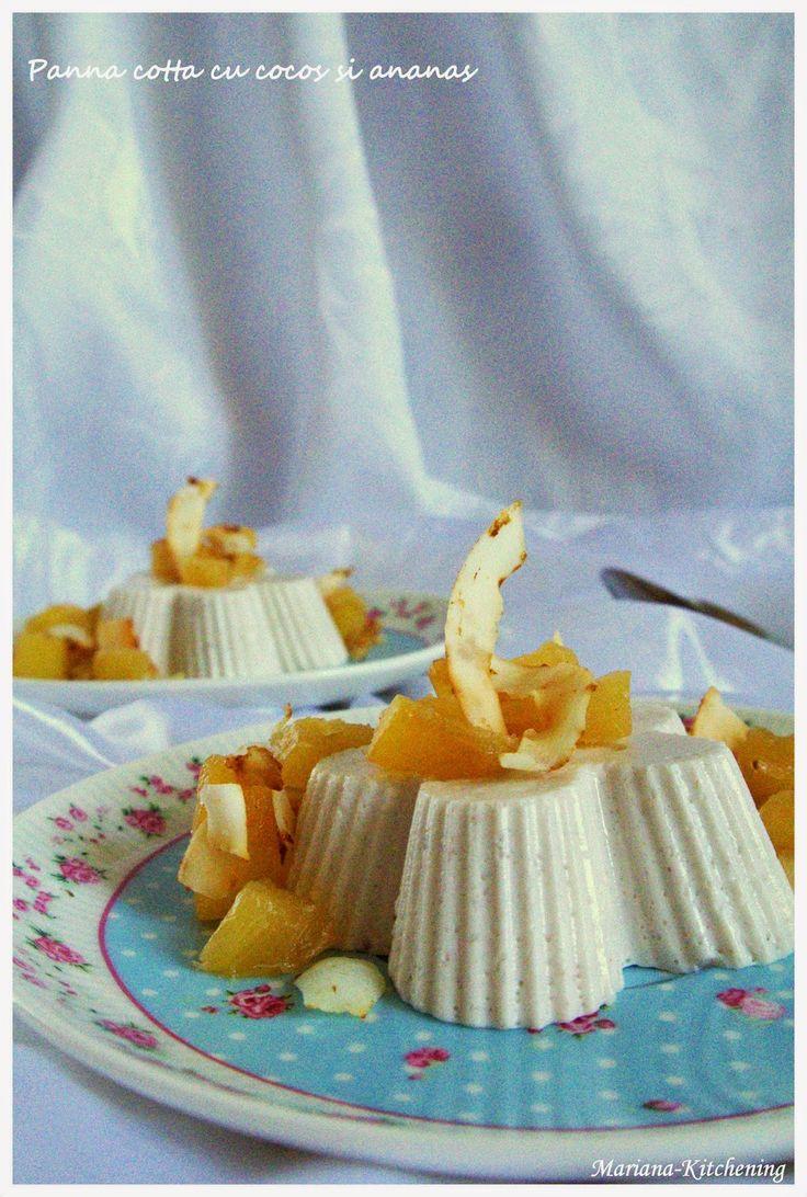 Kitchening: Panna cotta cu cocos şi ananas
