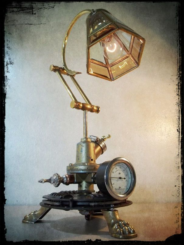 Artist Recycles Junk Materials Into Beautiful Steampunk Lighting: by Retro Steam Works
