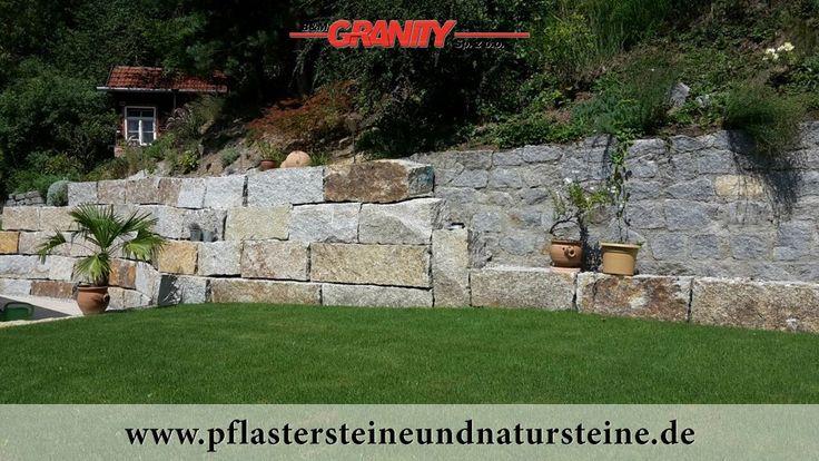 Grau-gelbe Granit-Mauersteine, Granit-Quader, Naturstein aus Polen... Polengranit...  http://www.pflastersteineundnatursteine.de/fotogalerie/mauersteine/