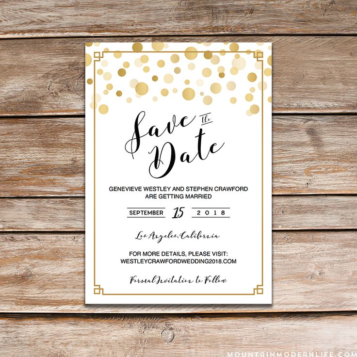 63 best Wedding Printables images on Pinterest Wedding printable - save the date template