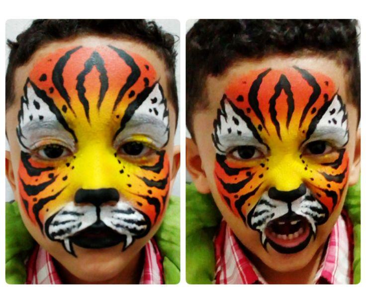Pintura facial Tigre -  Tiger face paint