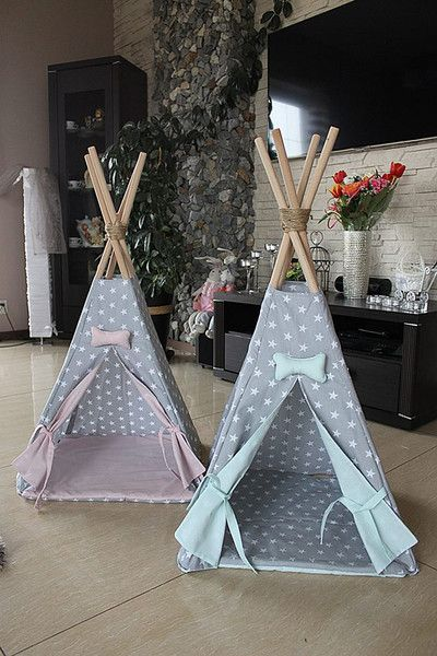 Dog Beds – Teepee dog house kennel for dogs – a unique product by Happy_Puppy_Shop on DaWanda