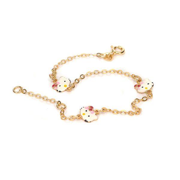 Παιδικό  βραχιόλι Hello Kitty χρυσό Κ14