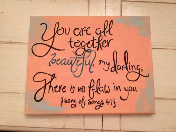 Darling In Coral Beautiful Bible Verse