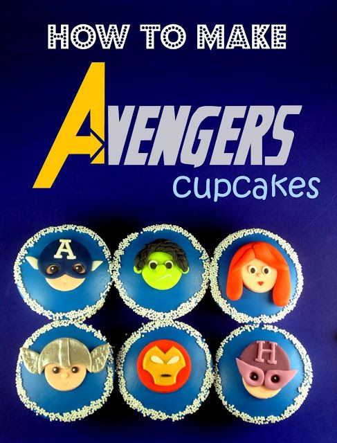 Link to loads of #superhero stuff. Free #recipe step by step of how to make these #Avengers #cupcakes. #Comics #comiXology #ComicBook #Read