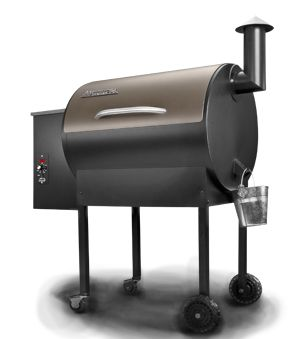 Traeger's Lil' Tex Elite grill and smoker. Evans Equipment Company stocks this best selling grill  as well as other popular models.