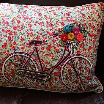 Bicycle Shabby Chic Cushion