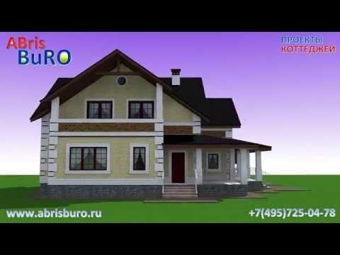 Проект мансардного дома с террасой