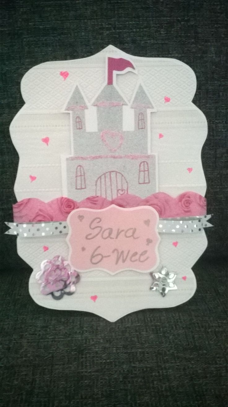 girl birthday card which is made of wallpaper
