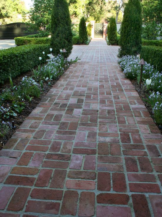 Basketweave Brick Patios Design, Pictures, Remodel, Decor and Ideas