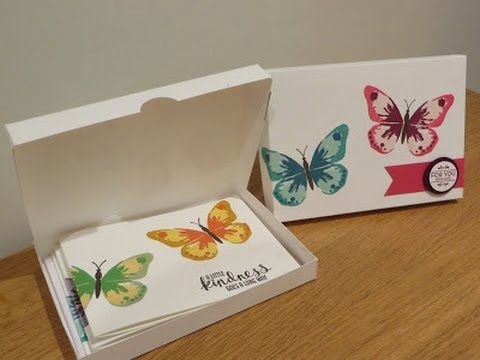 Watercolor Wings Card Gift Box Tutorial, Handmade with Stampin Up Products, Watercolour Wings - YouTube
