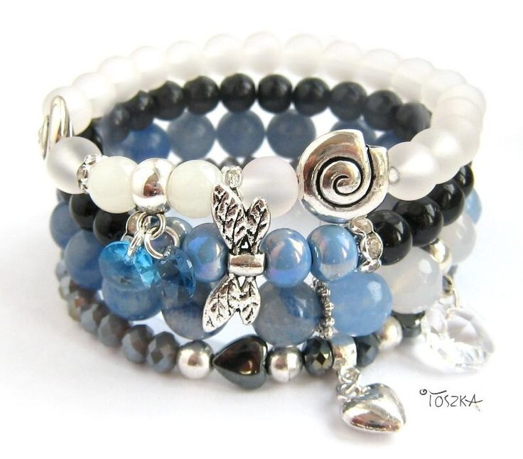 "Bracelet ""Navy Blue"" by TOSZKA on Etsy"
