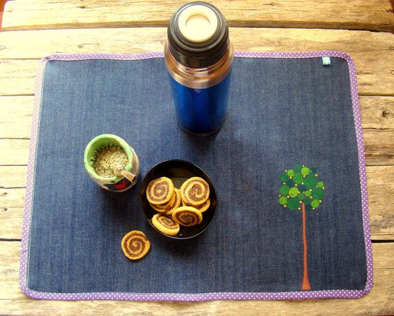 Individual de mesa pintado a mano pr cticos y - Individuales para mesa ...