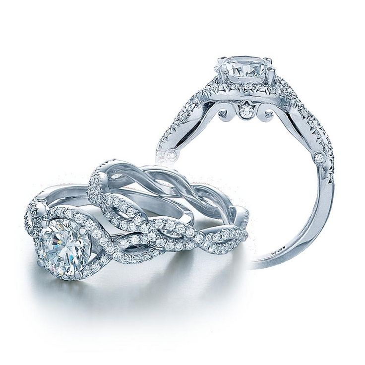 87 best Wedding Rings images on Pinterest Rings Jewelry and