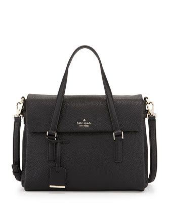 holden+street+leslie+satchel+bag,+black+by+kate+spade+new+york+at+Neiman+Marcus.