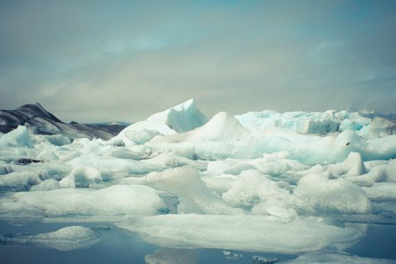 "Iceberg photography, Iceland glacier, Landscape poster, Art print, Nordic, Jokulsarlon lake, Scandinavia, 12"" x 8"", 30 cm x 20 cm"