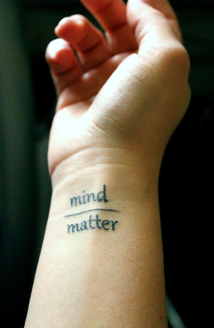Mind Matters Word Tattoos tobiastattoo.com #Word #Tattoo