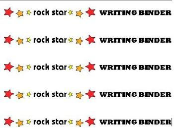 Complete the look of your students' Rock and Roll/Rock Star theme writing binders with this matching printable for the binder spine. The download r...