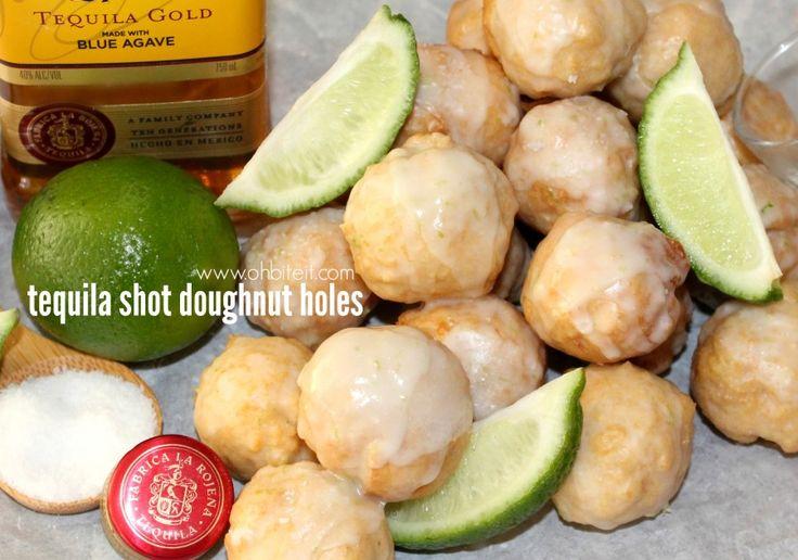 ~Tequila Shot Doughnut Holes!