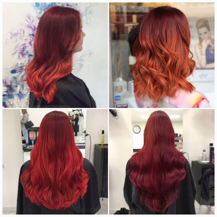 Vad tycker ni om dessa röda skönheter? 😍❤ #redhairs #colormelt #crazycolor