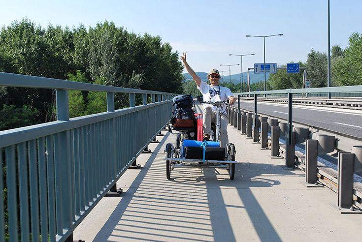 Fahrradurlaub mit Vierrad Tandem Fahrrad metallhase