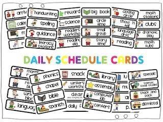 Mrs. P's Kindergarten: Daily Schedule Cards