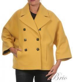 yellow overcoat mady in Italy