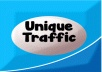 I will I will give you 600 to 1200 visitors every day forever get unique traffic. for $5