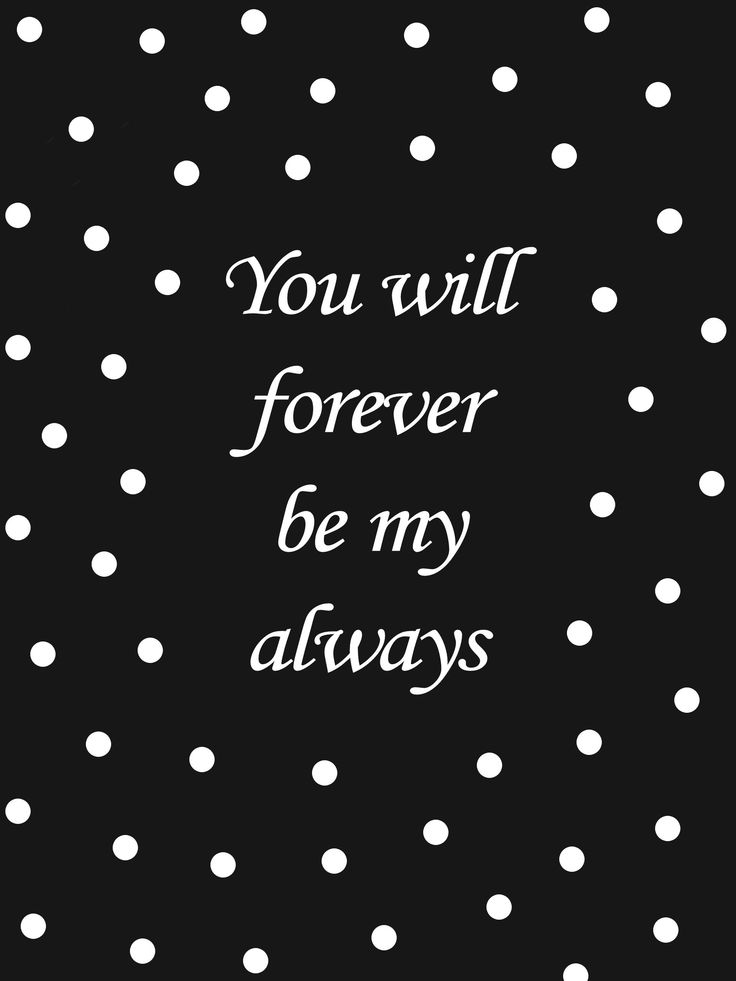 Quote 'Forever always'