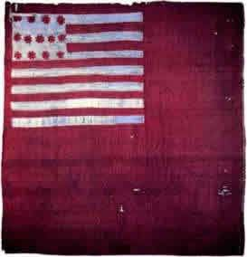 1777 Brandywine Flag. The Brandywine flag was a banner carried by Captain Robert Wilson's company of the 7th Pennsylvania Regiment. The company flag received the name after it was used in the Battle of Brandywine, 11 September 1777. The flag is red, with a red and white American flag image in the canton.