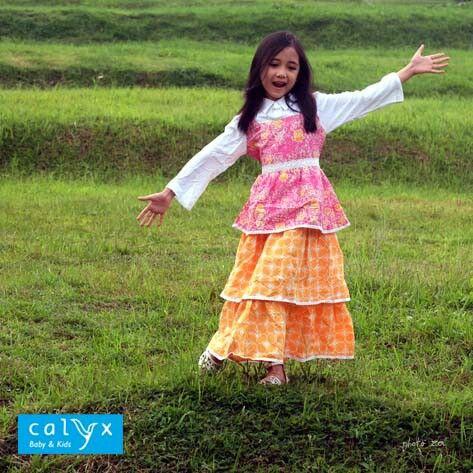 """Hyacinth"" batik maxi dress. Tasik batik fabric combined with rayon-cotton fabric. Model: Raisya Photographer: Reza Mappanganro. #calyxbabyandkids #calyxlookbook #lookbook #batikkids #kidsbatik #batikforkids #batikanak #batiklucu #batikforgirls #batikdress #dressbatik #maxidresskids #maxidressanak #batikmuslimanak #bajumuslimanak #muslimkidsfashion #kidsfashion #fashionkids #fashionanak #kidstyle #kidsphotography #kidsmodel #batikindonesia #madeinbandung #madeinindonesia"
