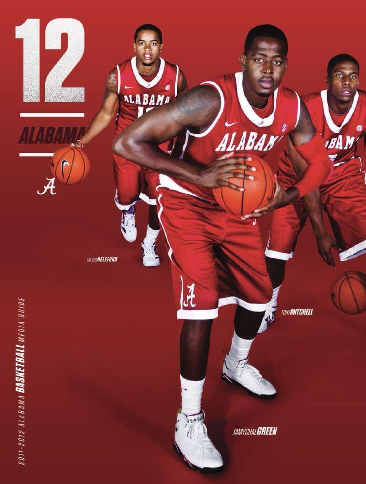 2011-2012 Alabama Basketball Media Guide Cover - from the Alabama Men's Basketball Media Guide #AlabamaMensBasketballMediaGuide #BuckleUp #Alabama #RollTide #Bama #BuiltByBama #RTR #CrimsonTide #RammerJammer