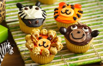 Jungle Animal Cupcake Recipe | Betty Crocker