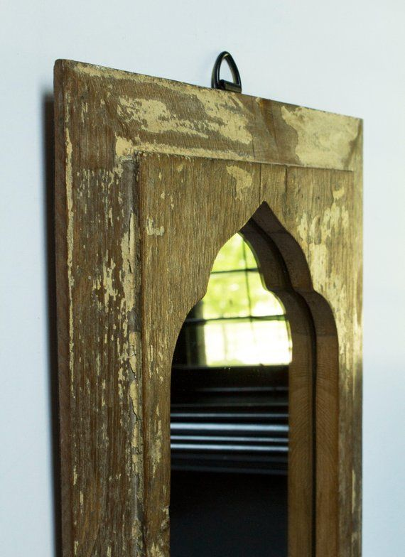 Architectural Salvage Vintage Wood Mirror Entryway Decor Reclaimed